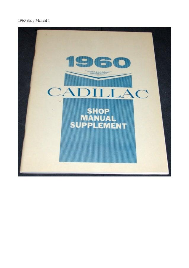 1960 Shop Manual 1