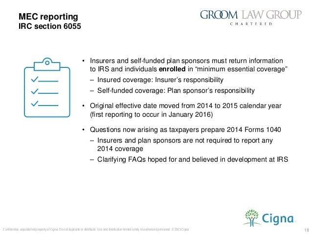 Cadillac tax 02 26 15 presentation internal for Minimum essential coverage plan design