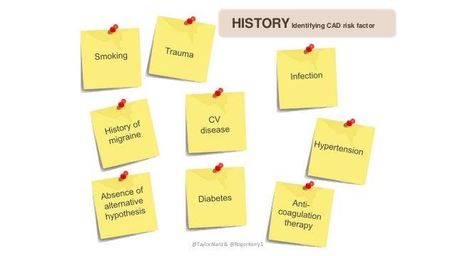 HISTORYIdentifying CAD risk factor @TaylorAlanJ & @RogerKerry1