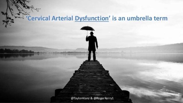@TaylorAlanJ & @RogerKerry1 'Cervical Arterial Dysfunction' is an umbrella term