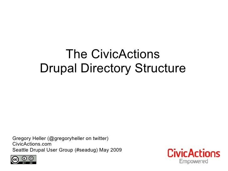 The CivicActions            Drupal Directory Structure     Gregory Heller (@gregoryheller on twitter) CivicActions.com Sea...