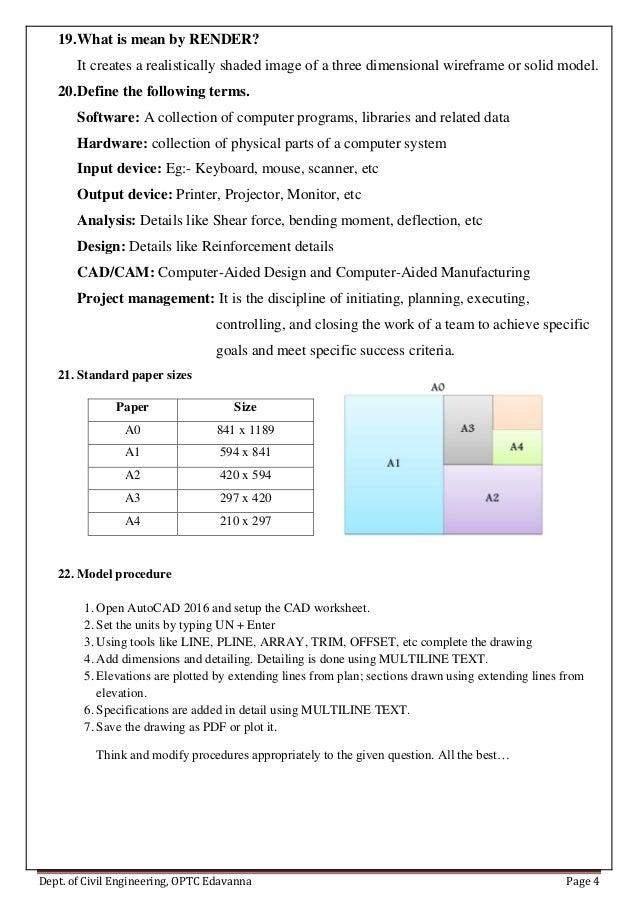 CAD Lab model viva questions – Lab Tools Worksheet