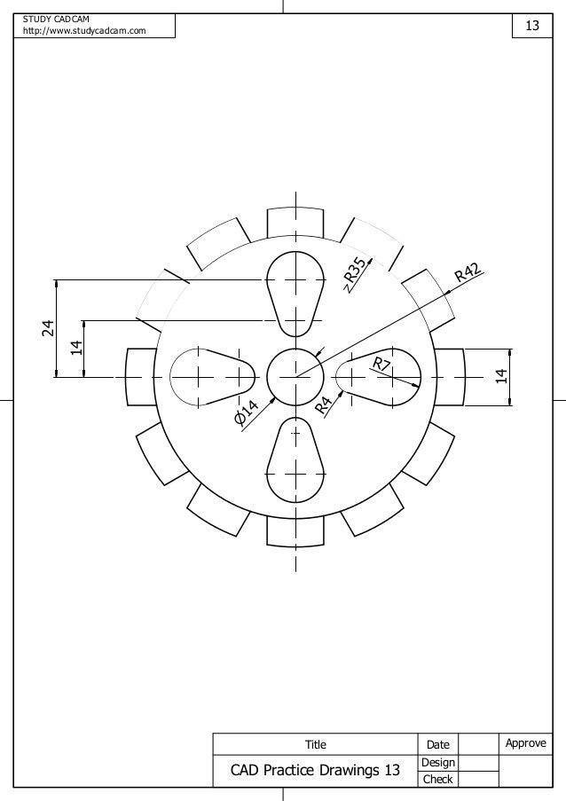 cad practice drawings 13. Black Bedroom Furniture Sets. Home Design Ideas
