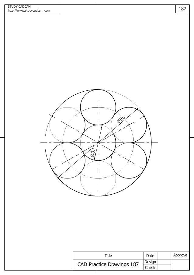 Cad practice drawings 181 189