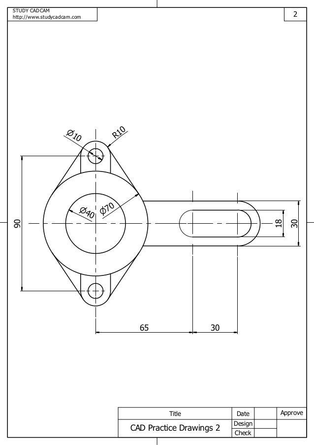 Cad practice drawings 2