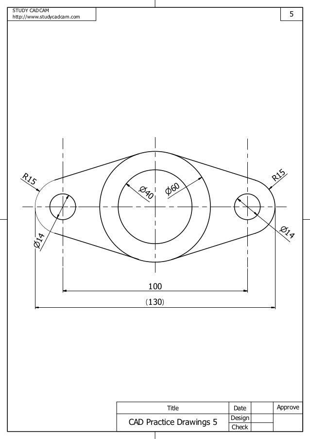 Cad practice drawings 5