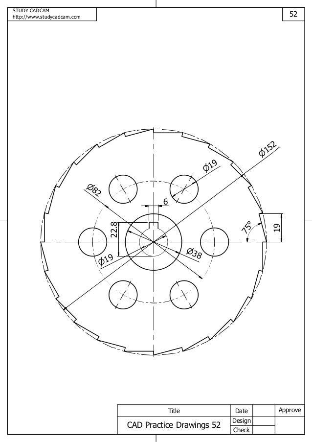 Cad practice drawings 52