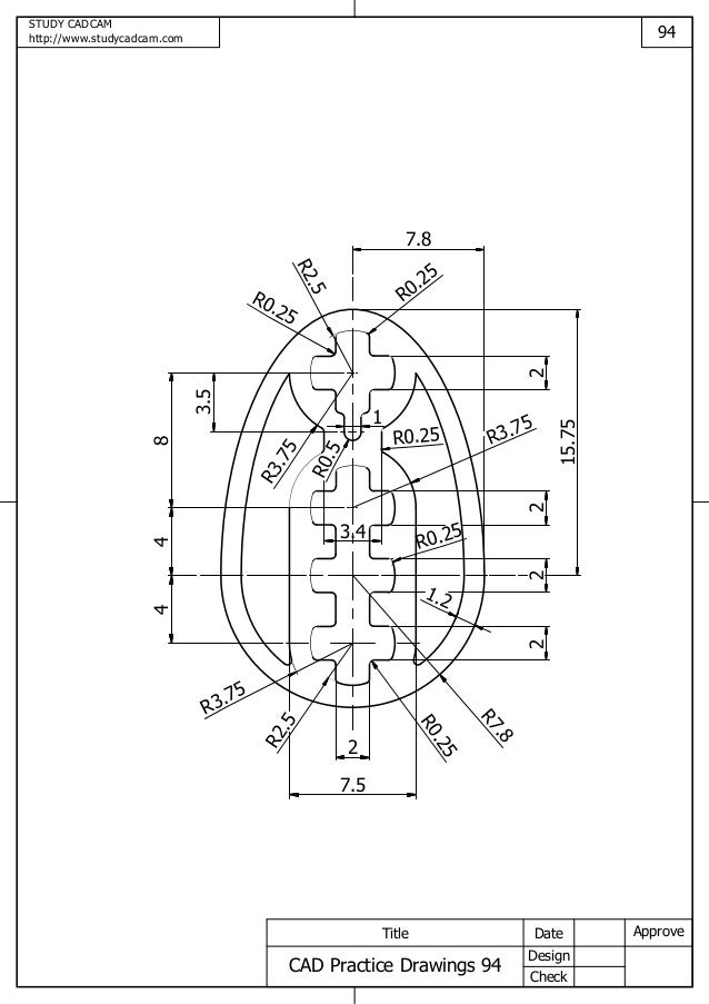 Cad practice drawings 91 100