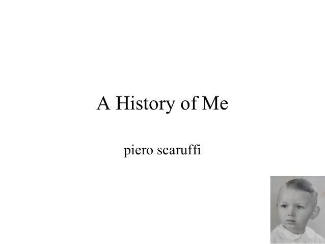 A History of Me piero scaruffi