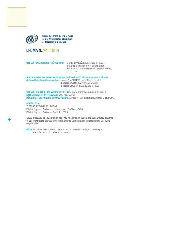 Cadre d'analyse de la charge de cas   2009 Slide 2
