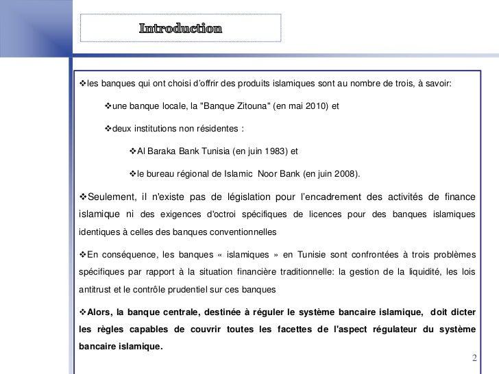 Cadre Legal Et Reglementaire De La Finance Islamique En Tunisie Slide 2