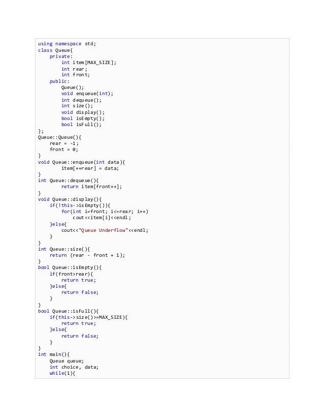 C++ adt c++ implementations