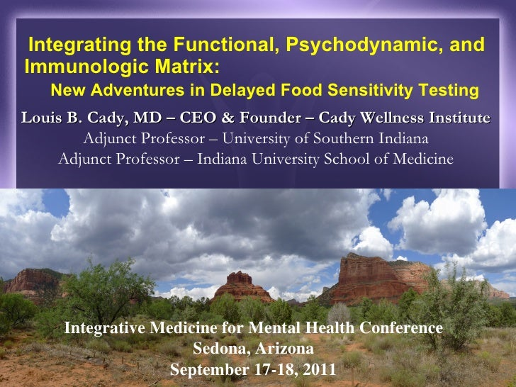 Integrating the Functional, Psychodynamic, and Immunologic Matrix:  New Adventures in Delayed Food Sensitivity Testing Lou...