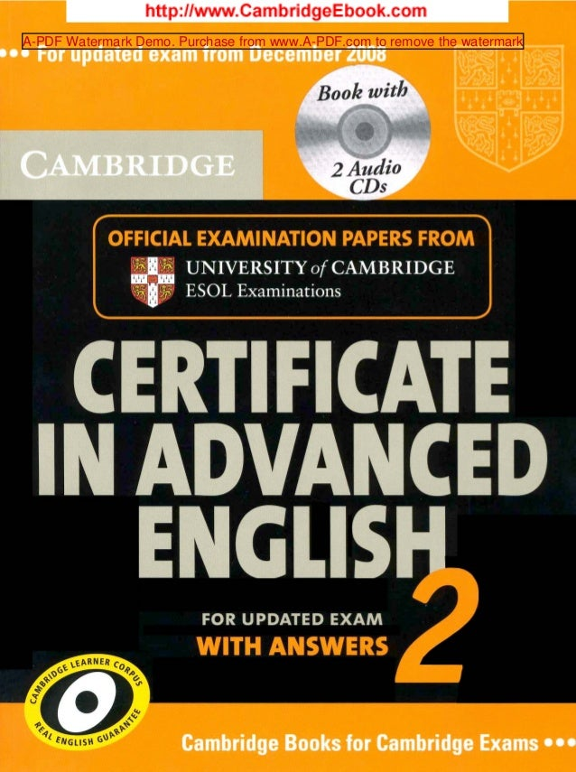 Cambridge Certificate in Advanced English 2
