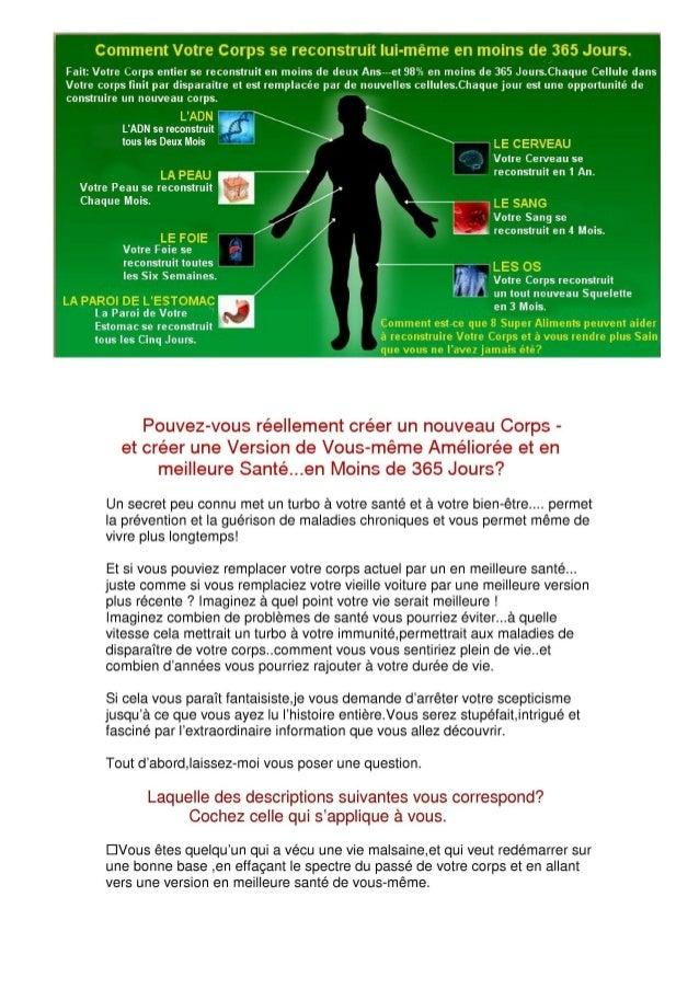 Vous souffrez d'une maladie dégénérative chronique,et recherchez une restauration totale de votre santé. Vous voyez et res...