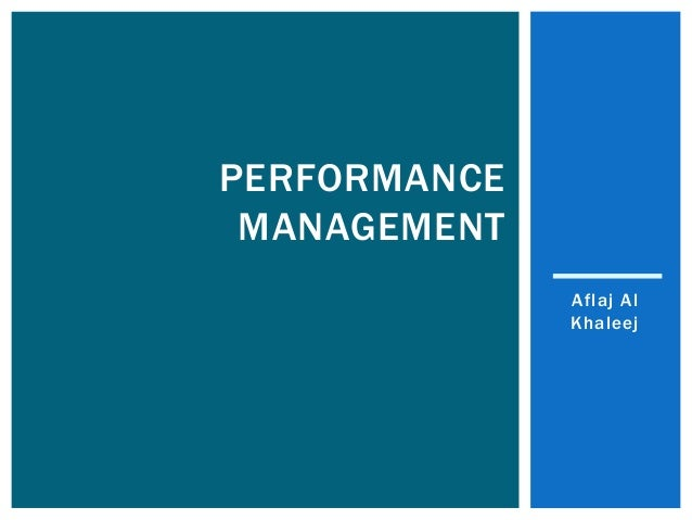 Aflaj Al Khaleej PERFORMANCE MANAGEMENT
