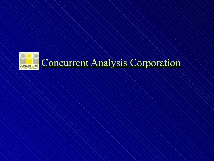 Concurrent Analysis Corporation