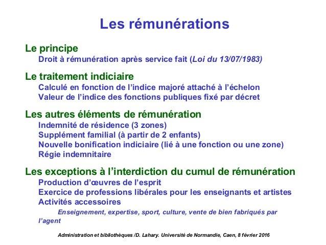 Environnement administratif et politique des biblioth ques - Attache d administration grille indiciaire ...