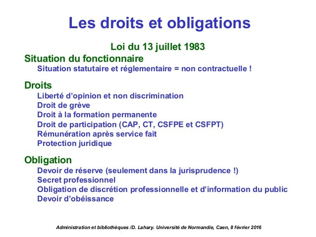 Environnement administratif et politique des biblioth ques - Droit et devoir du locataire ...