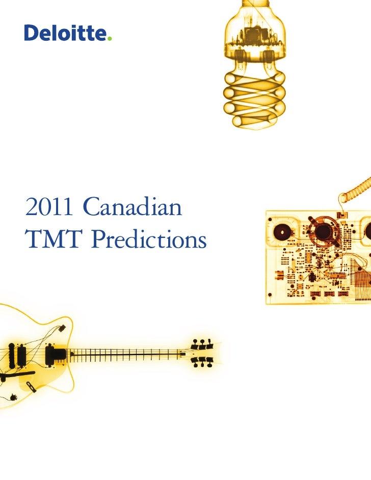 2011 CanadianTMT Predictions