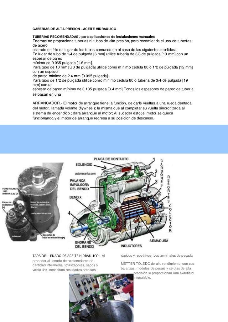CAÑERIAS DE ALTA PRESION –ACEITE HIDRAULICO<br />TUBERIAS RECOMENDADAS .-para aplicaciones de instalaciones manuales<br />...