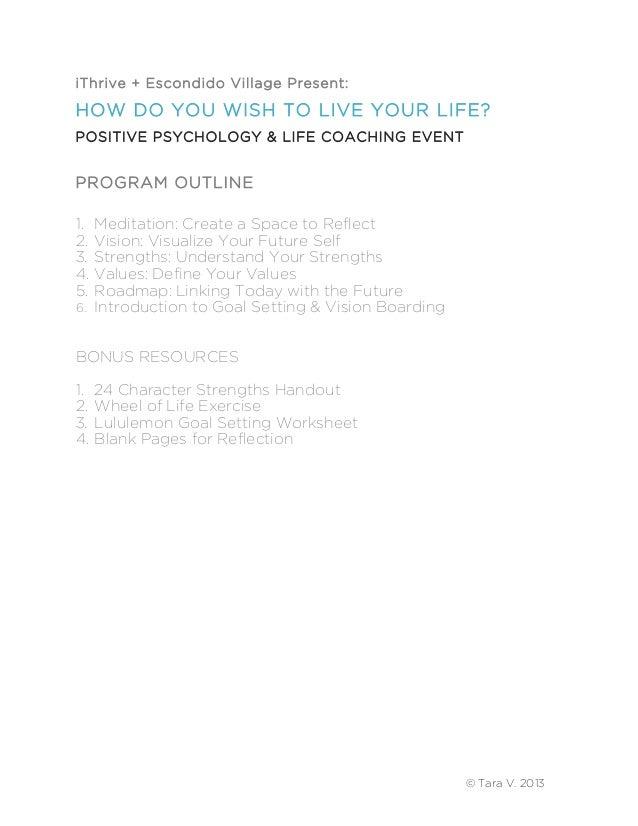 life coaching positive psychology workbook. Black Bedroom Furniture Sets. Home Design Ideas