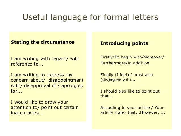 Useful Language For Cae Wt Paper Part