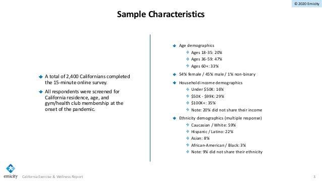 Ca exercise & wellness study report 10 15 Slide 3