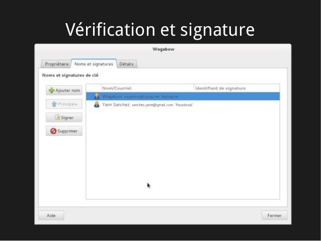 Vérification et signature