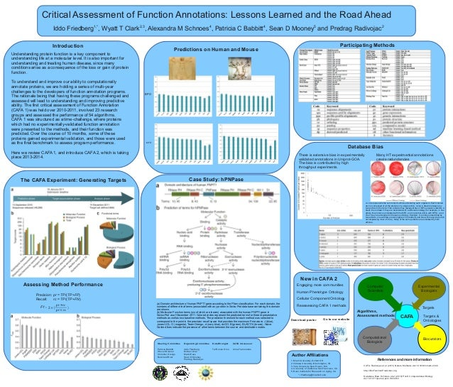 Critical Assessment of Function Annotations: Lessons Learned and the Road Ahead 1,*  2,3  4  4  5  Iddo Friedberg , Wyatt ...