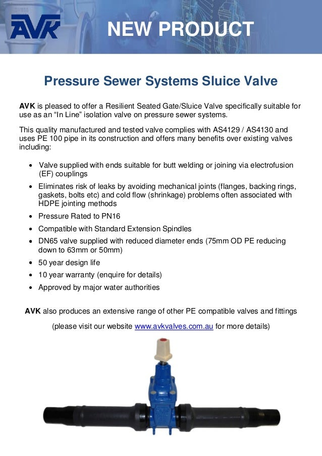Avk Weldable In Line Rs Gate Valves For 50 63mm Hdpe