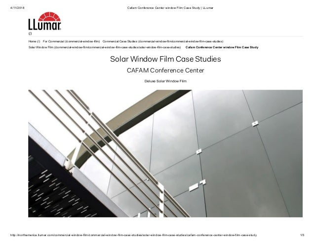 4/11/2018 Cafam Conference Center window Film Case Study | LLumar http://northamerica.llumar.com/commercial-window-film/co...