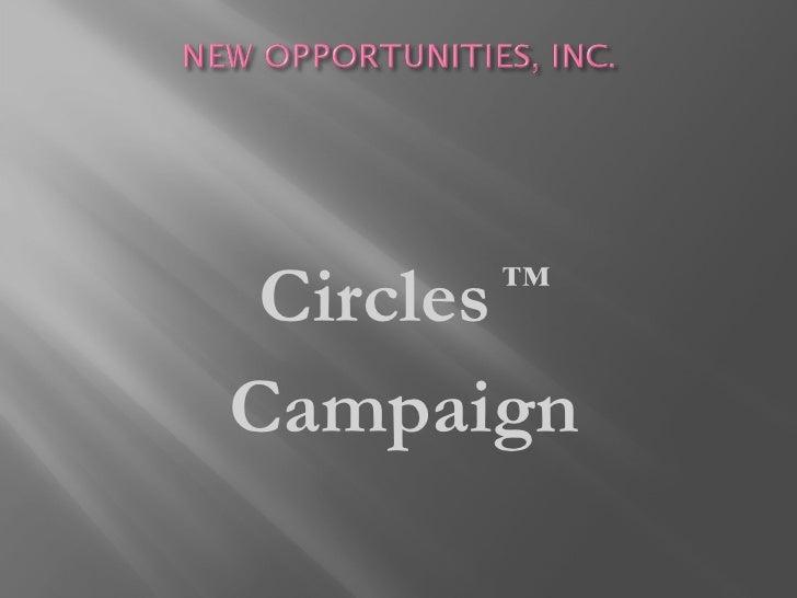 <ul><li>Circles  ™ </li></ul><ul><li>Campaign </li></ul>