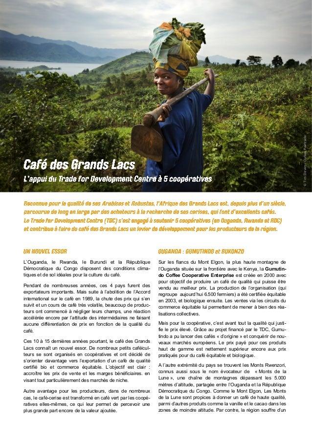 ©TimDirven/OxfamFairtrade L'Ouganda, le Rwanda, le Burundi et la République Démocratique du Congo disposent des conditions...