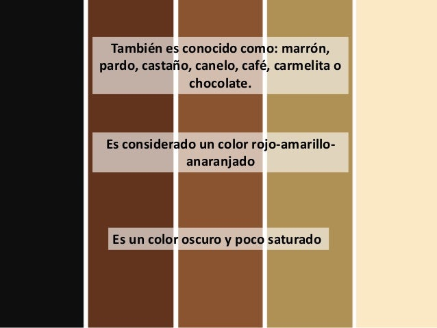 Which Word For Brown To Use - Marron-y-chocolate