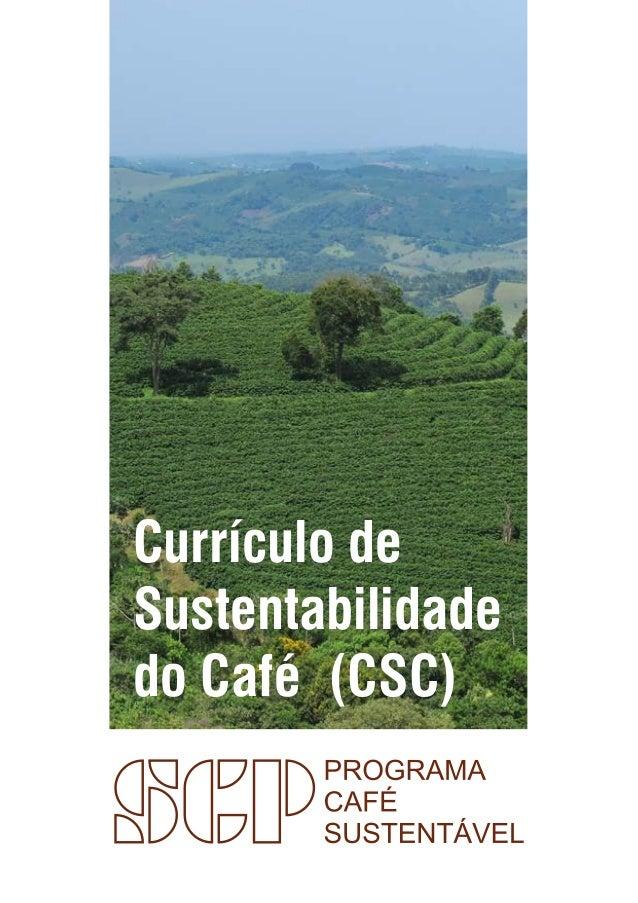 Currículo de Sustentabilidade do Café (CSC)