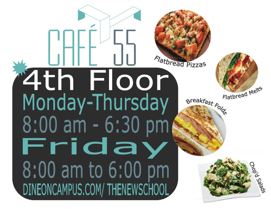 Cafe 55 lobby poster