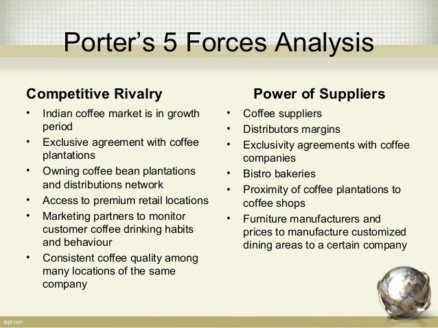 porter five forces analysis casual restaurant Porters 5 forces competitive rivalry panera bread company competes on  many levels of fast casual dining and specialty foods panera's.