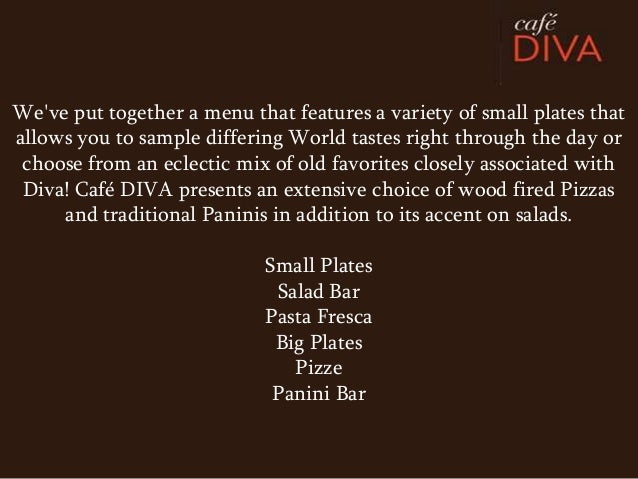 Weve put together a menu that features a variety of small plates thatallows you to sample differing World tastes right thr...