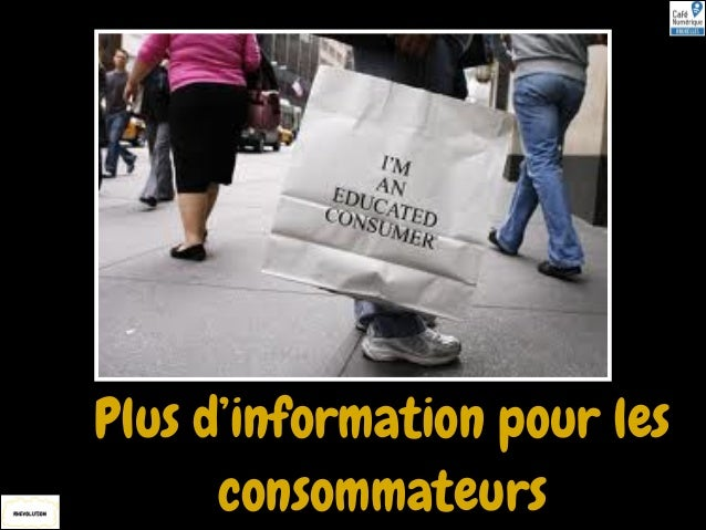 Plus d'information pour les consommateurs