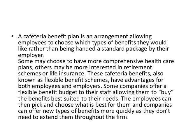 cafeteria plan advantages and disadvantages