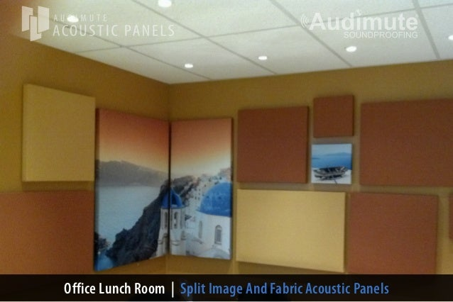 Office Lunch Room | Split Image And Fabric Acoustic Panels