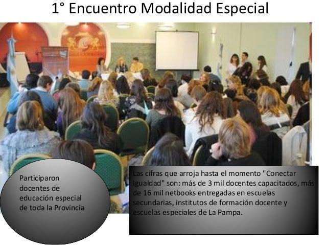 """1° Encuentro Modalidad Especial                       Las cifras que arroja hasta el momento """"ConectarParticiparon        ..."""
