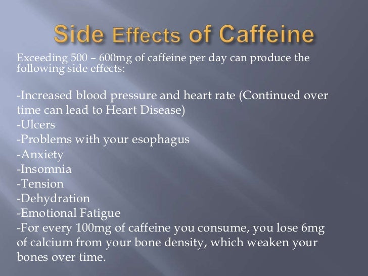effects of caffeine essays Caffeine is the most commonly consumed drug in the world that is said to have been discovered in the paleolithic period it is found in basically everything.