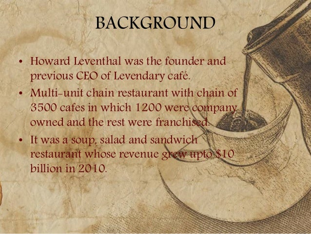 levendary cafe Business essays: levandary case study - what is your evaluation of the way  levendary cafe has entered the china market.