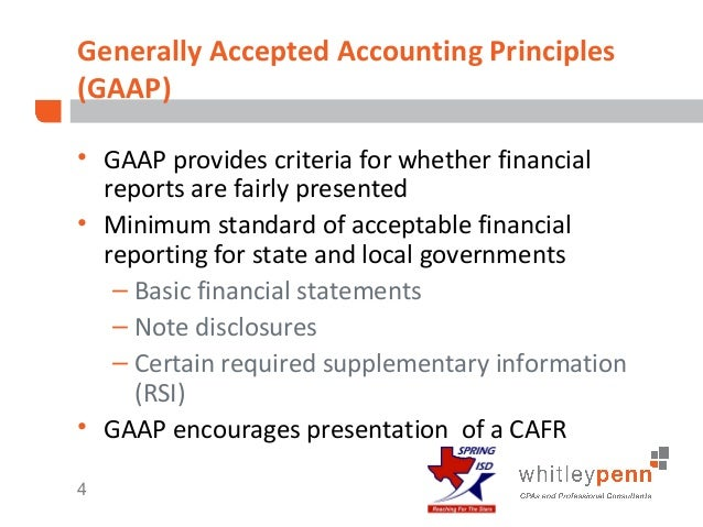 assignment generally accepted accounting principles and The standards are known collectively as generally accepted accounting principles—or gaap for all organizations gaap includes principles on.