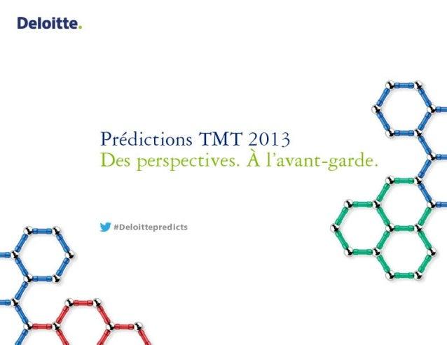 Prédictions TMT 2013 de Deloitte