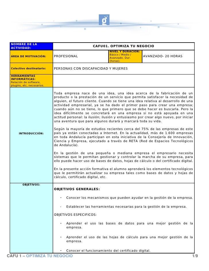 NOMBRE DE LA   ACTIVIDAD:                                                      CAFU01. OPTIMIZA TU NEGOCIO                ...