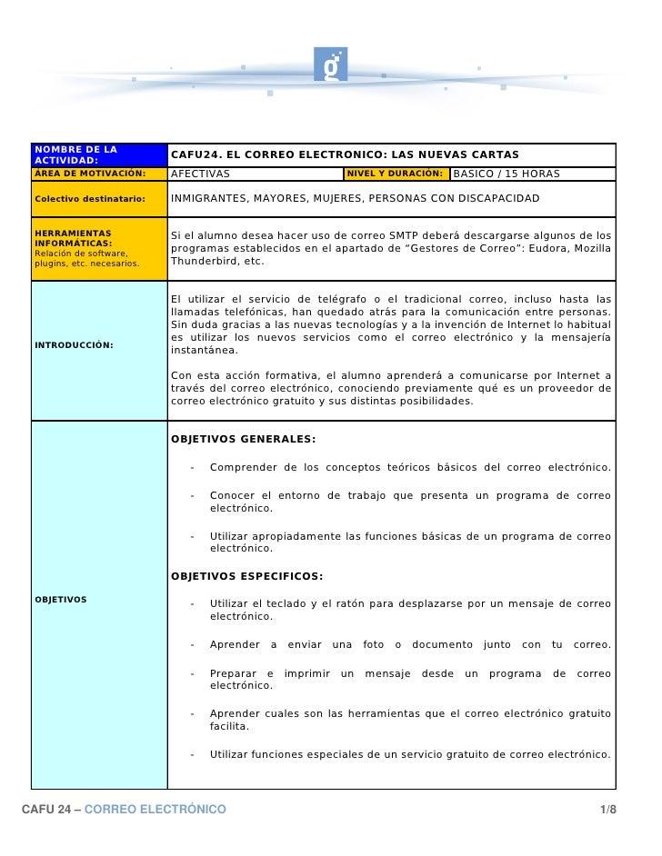 NOMBRE DE LA  ACTIVIDAD:                              CAFU24. EL CORREO ELECTRONICO: LAS NUEVAS CARTAS  ÁREA DE MOTIVACIÓN...