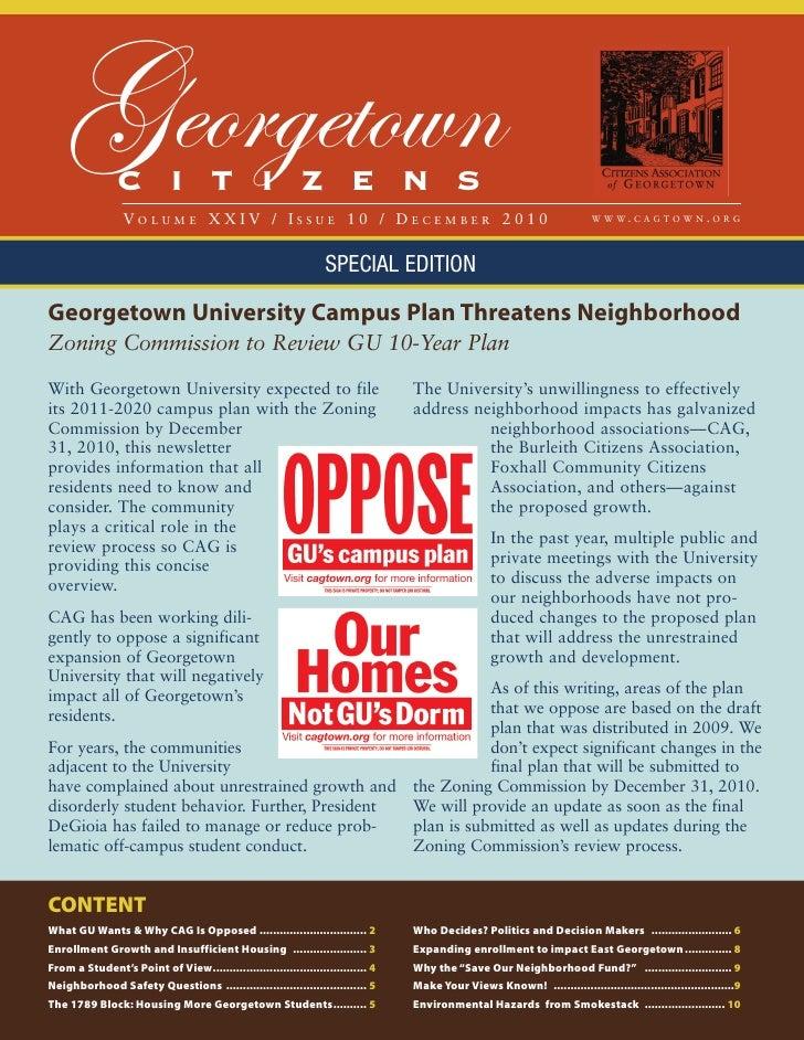 Georgetown   C I T I Z E N S                 VOLUME XXIV / ISSUE 10 / DECEMBER 2010                                       ...